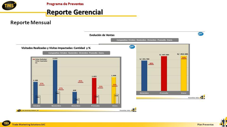 Programa de Preventas Reporte Gerencial Reporte Mensual