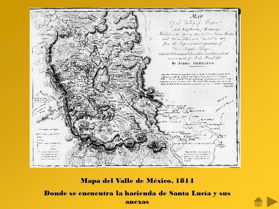 Mapa del Valle de México, 1814