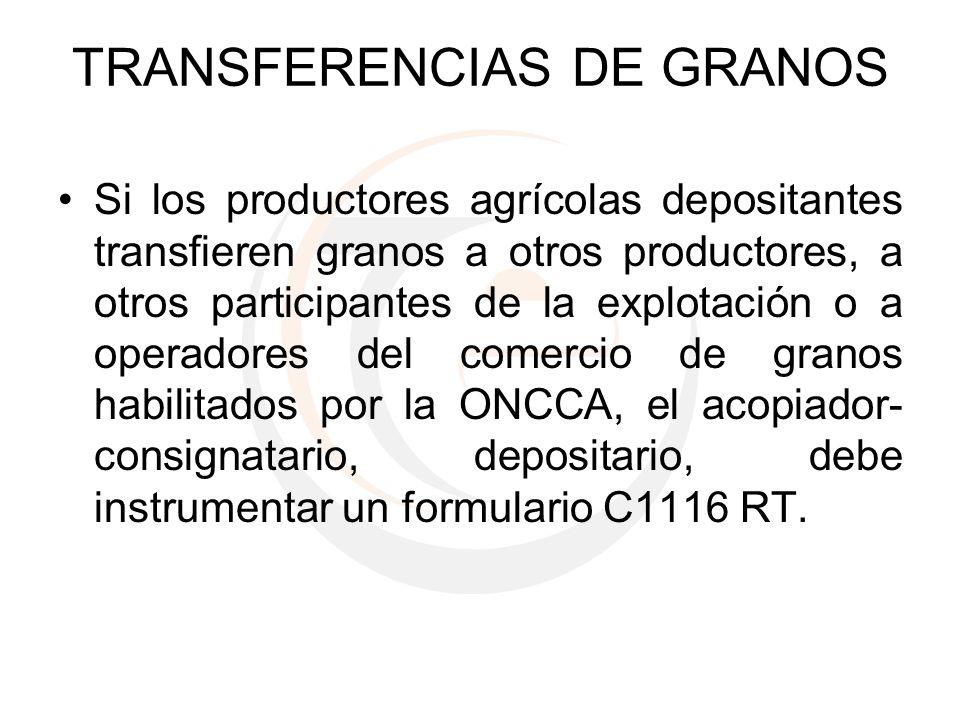 TRANSFERENCIAS DE GRANOS