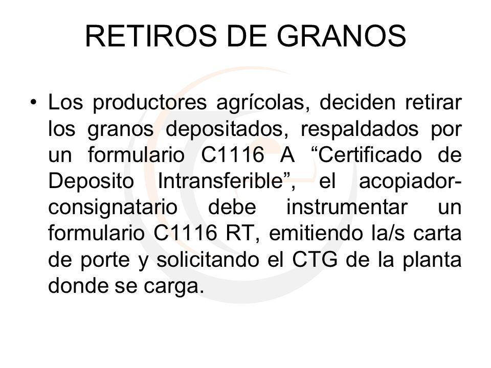RETIROS DE GRANOS