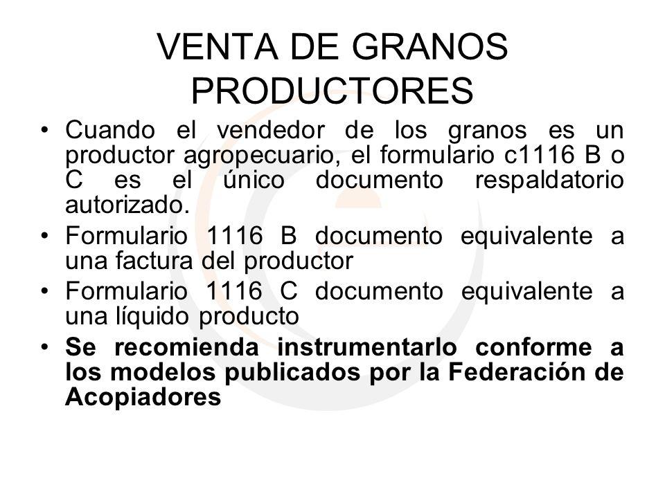 VENTA DE GRANOS PRODUCTORES