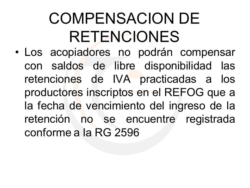 COMPENSACION DE RETENCIONES