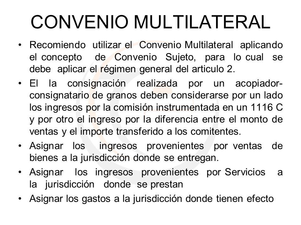 CONVENIO MULTILATERAL