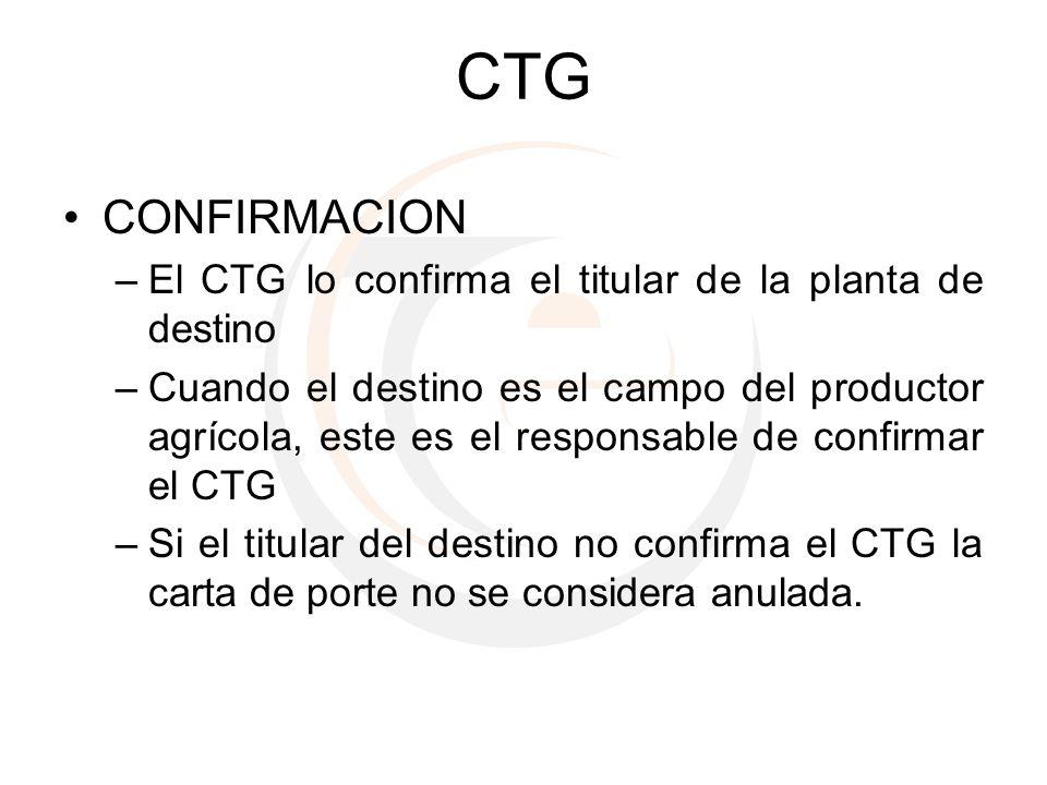 CTG CONFIRMACION El CTG lo confirma el titular de la planta de destino