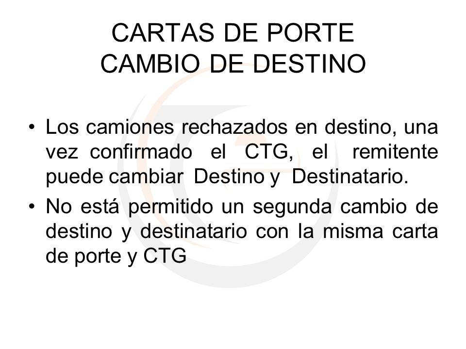 CARTAS DE PORTE CAMBIO DE DESTINO