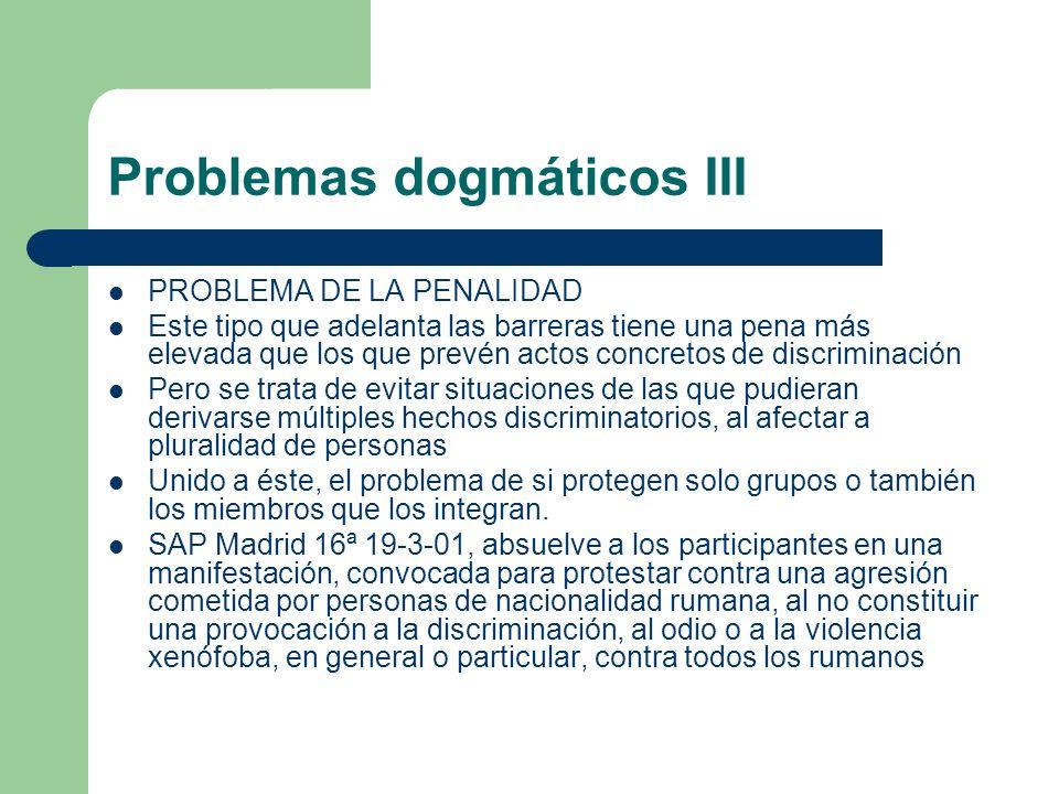 Problemas dogmáticos III
