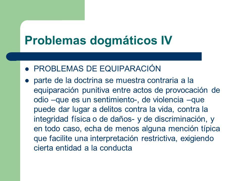 Problemas dogmáticos IV