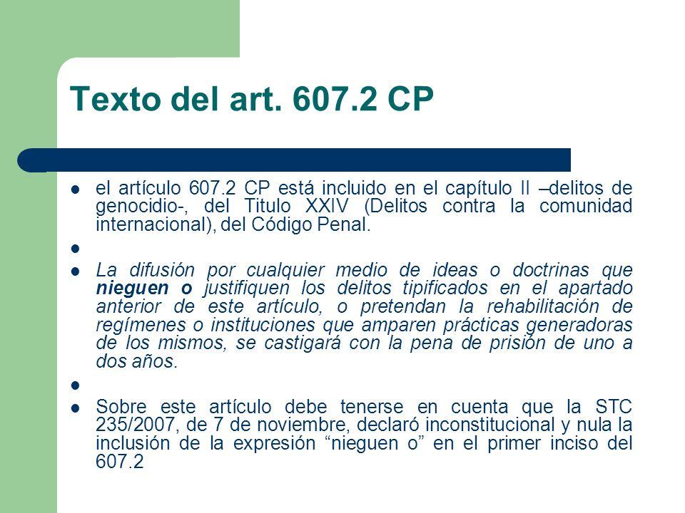 Texto del art. 607.2 CP