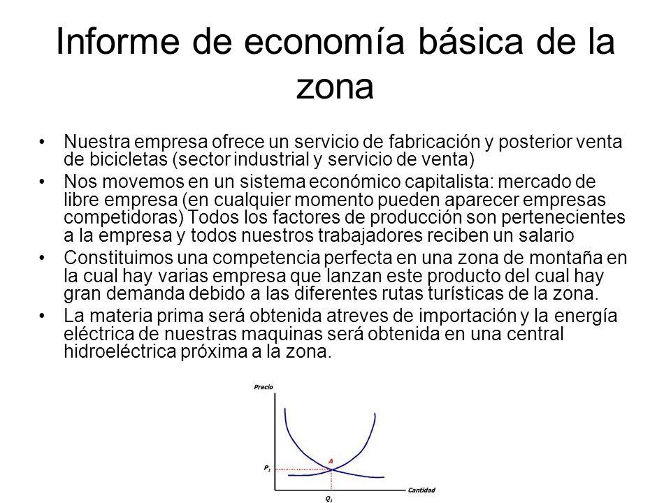 Informe de economía básica de la zona