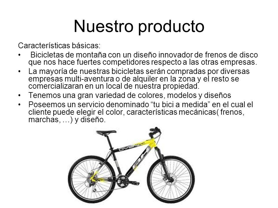 Nuestro producto Características básicas: