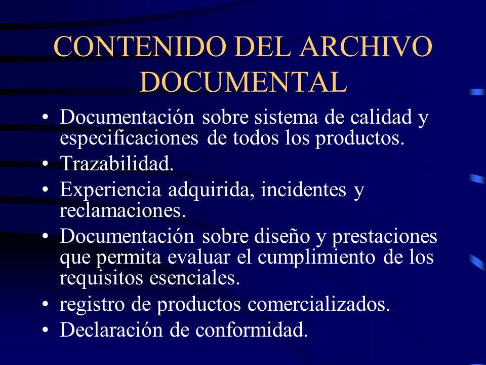 CONTENIDO DEL ARCHIVO DOCUMENTAL