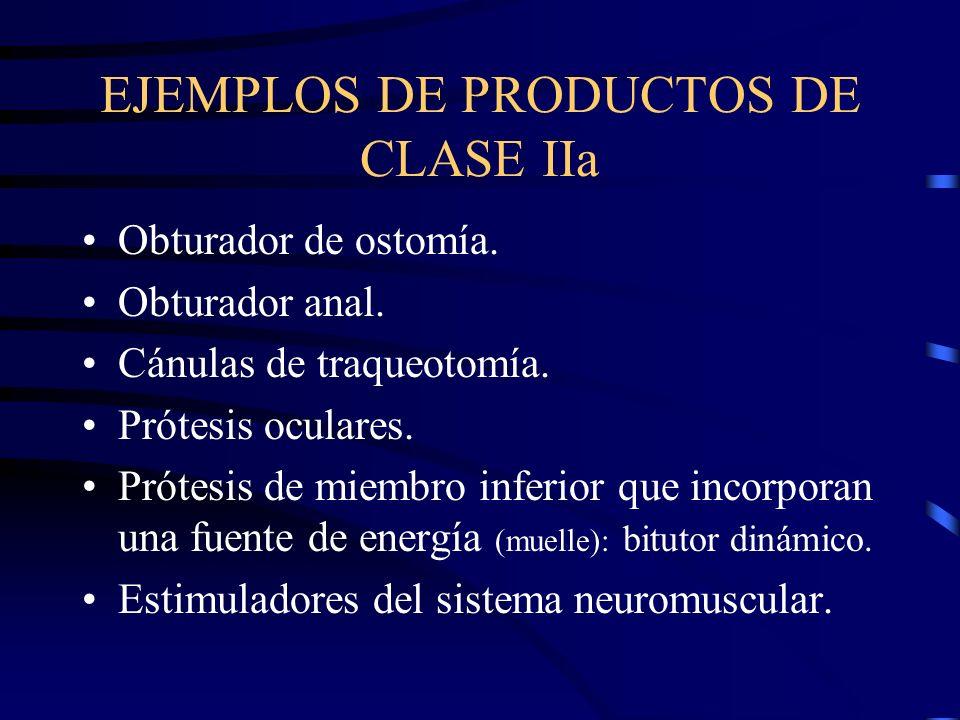 EJEMPLOS DE PRODUCTOS DE CLASE IIa