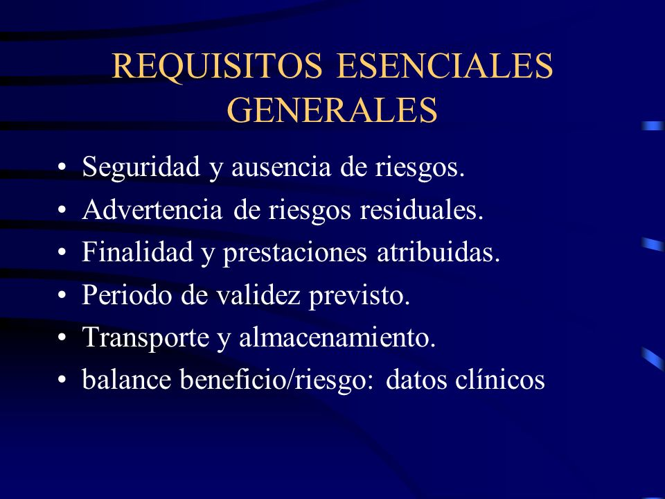 REQUISITOS ESENCIALES GENERALES