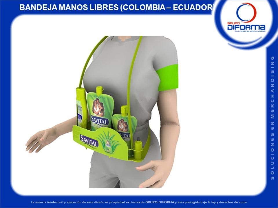 BANDEJA MANOS LIBRES (COLOMBIA – ECUADOR)
