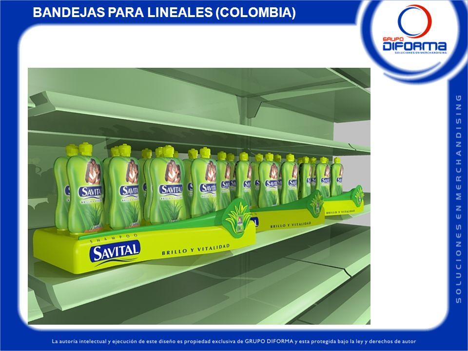 BANDEJAS PARA LINEALES (COLOMBIA)
