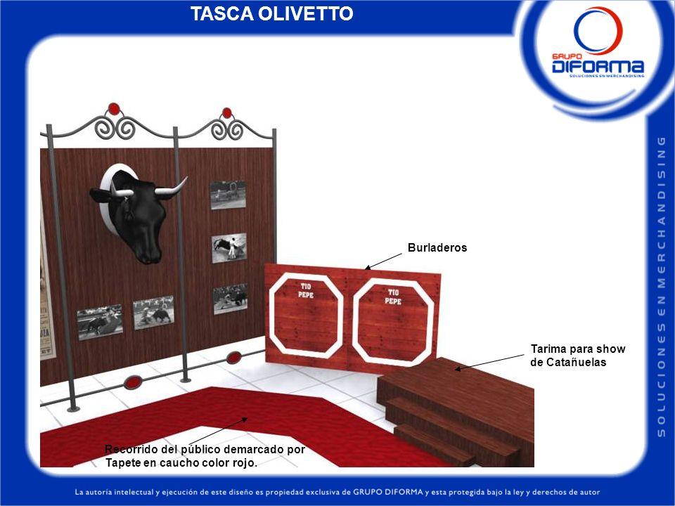 TASCA OLIVETTO Burladeros Tarima para show de Catañuelas
