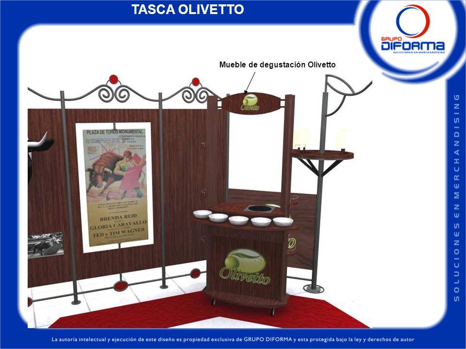 TASCA OLIVETTO Mueble de degustación Olivetto