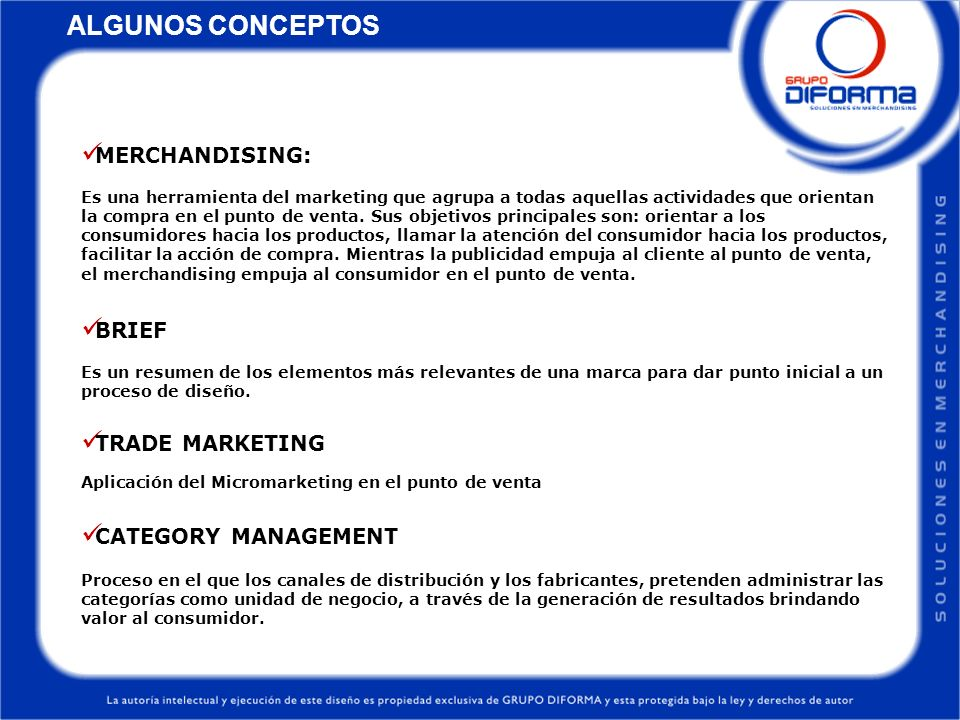 ALGUNOS CONCEPTOS MERCHANDISING: BRIEF TRADE MARKETING