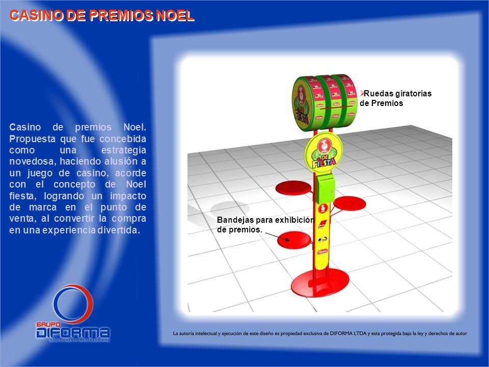 CASINO DE PREMIOS NOEL Ruedas giratorias. de Premios.
