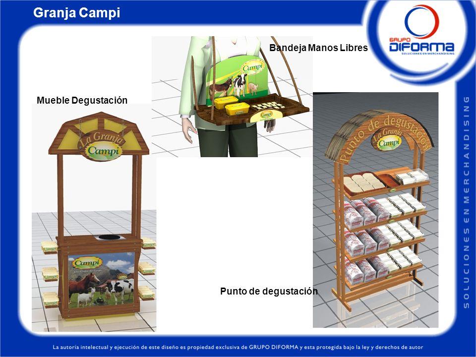 Granja Campi Bandeja Manos Libres Mueble Degustación