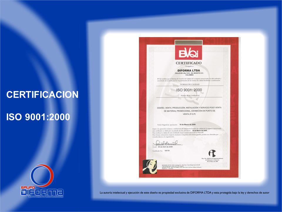 CERTIFICACION ISO 9001:2000