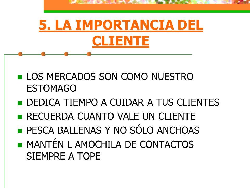 5. LA IMPORTANCIA DEL CLIENTE