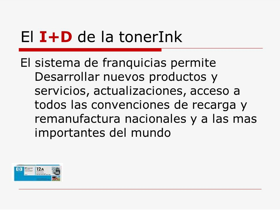 El I+D de la tonerInk