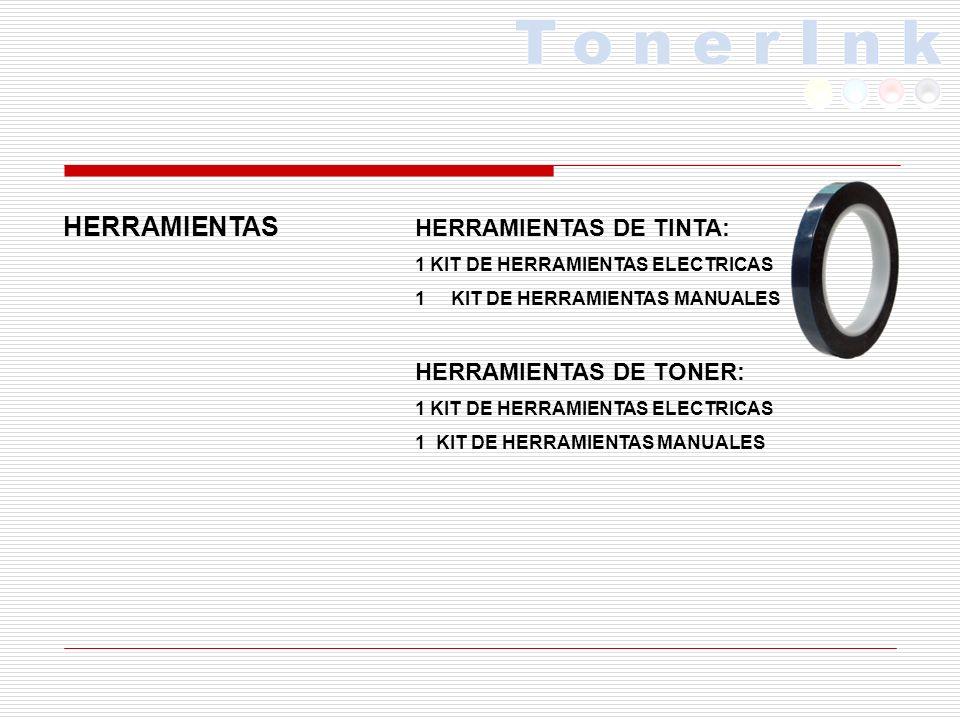 HERRAMIENTAS HERRAMIENTAS DE TINTA: HERRAMIENTAS DE TONER: