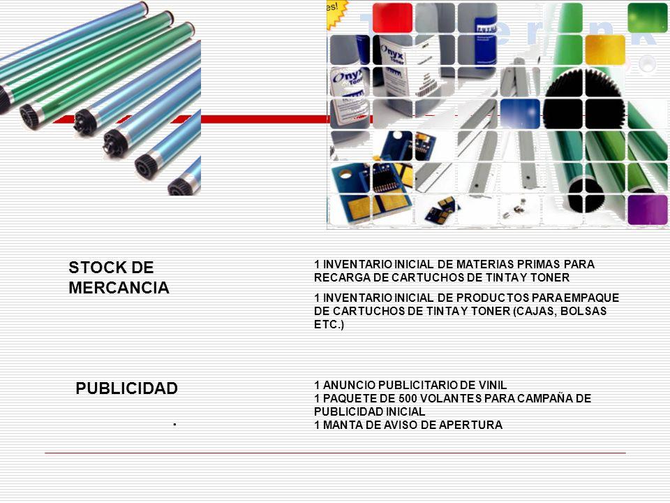STOCK DE MERCANCIA PUBLICIDAD .