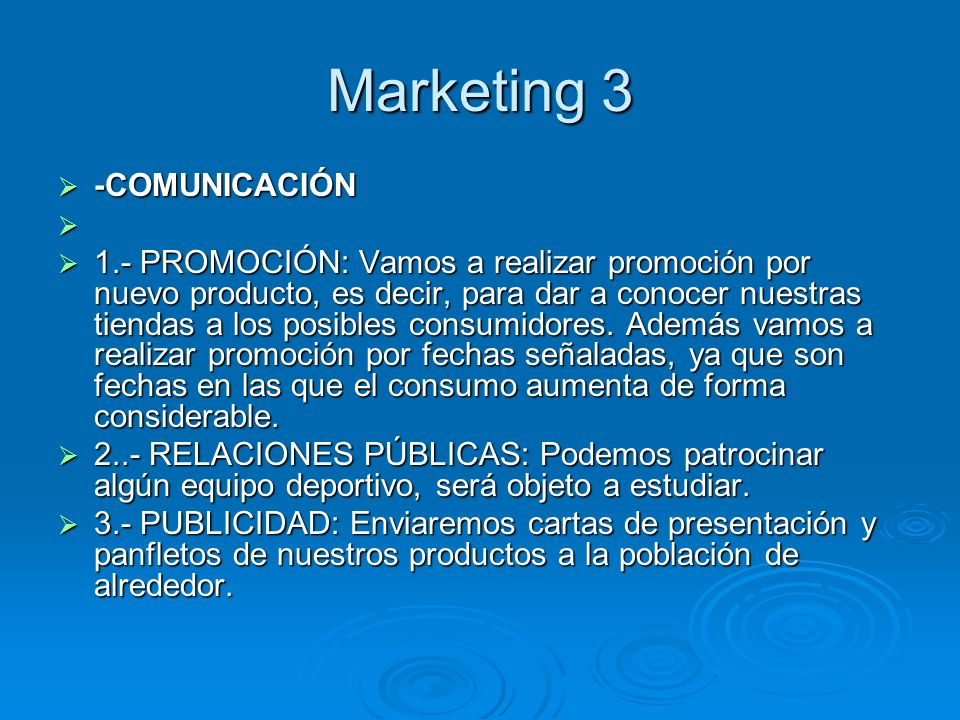Marketing 3 -COMUNICACIÓN