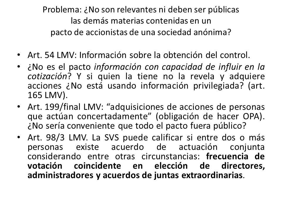 Art. 54 LMV: Información sobre la obtención del control.