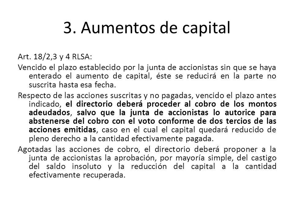 3. Aumentos de capital