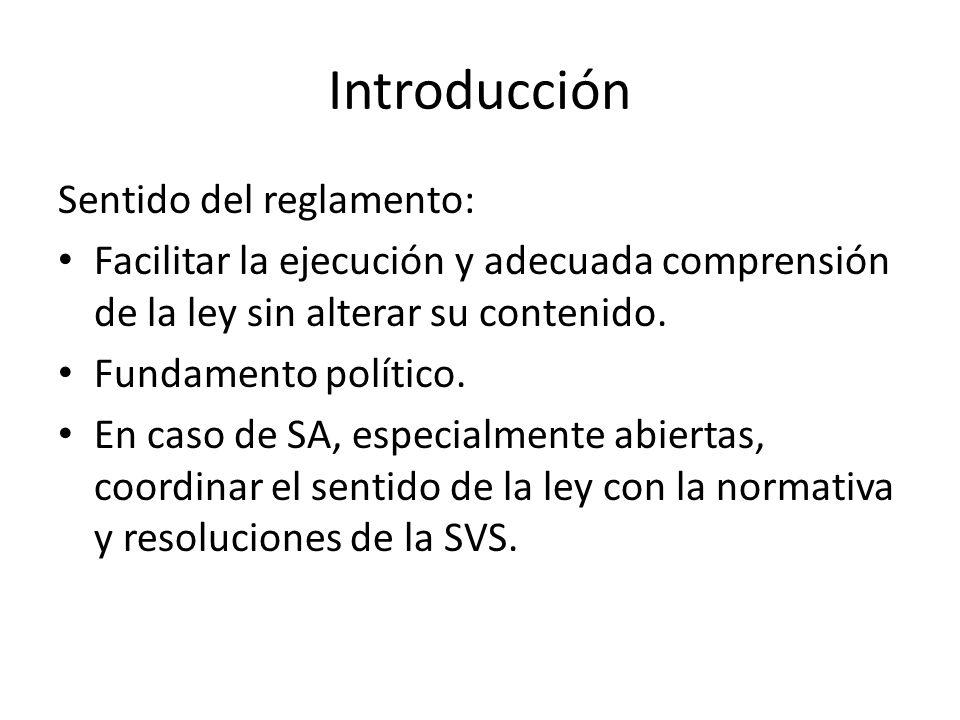 Introducción Sentido del reglamento: