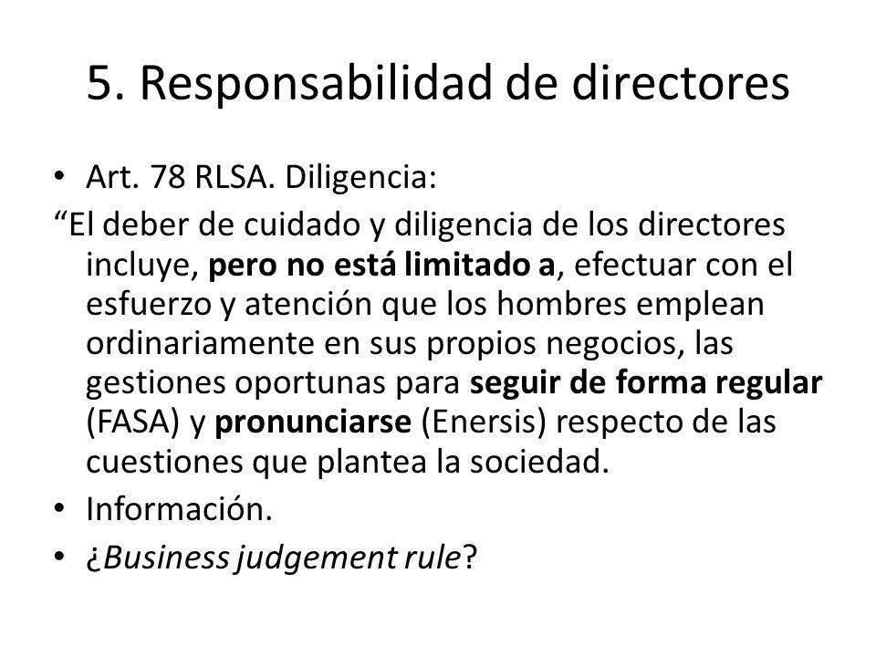 5. Responsabilidad de directores
