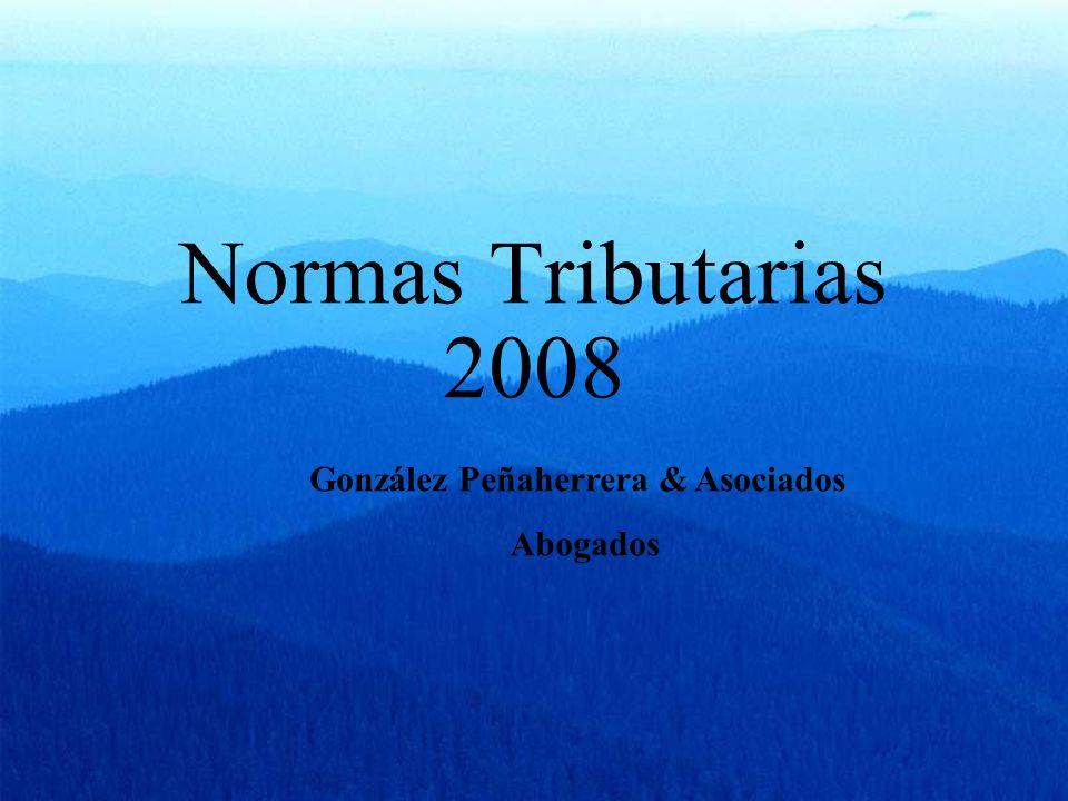 Normas Tributarias 2008 González Peñaherrera & Asociados Abogados
