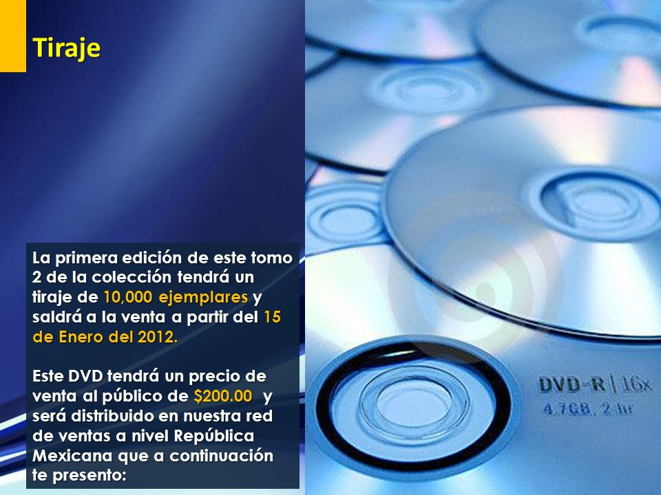 Tiraje La primera edición de este tomo 2 de la colección tendrá un tiraje de 10,000 ejemplares y saldrá a la venta a partir del 15 de Enero del 2012.
