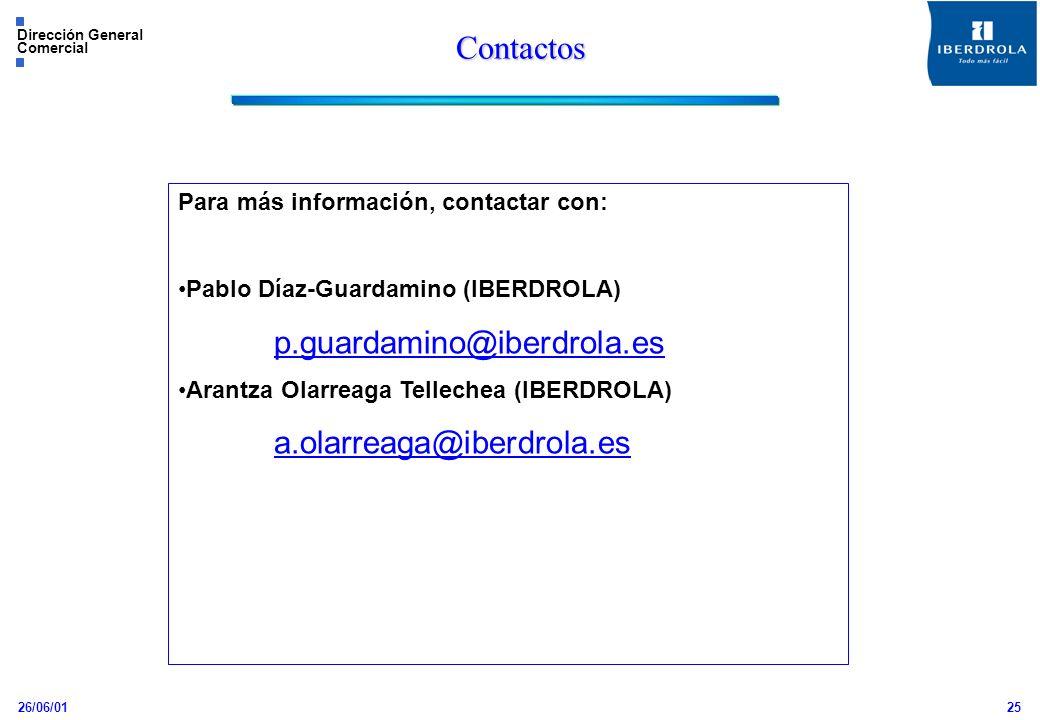 Contactos p.guardamino@iberdrola.es a.olarreaga@iberdrola.es
