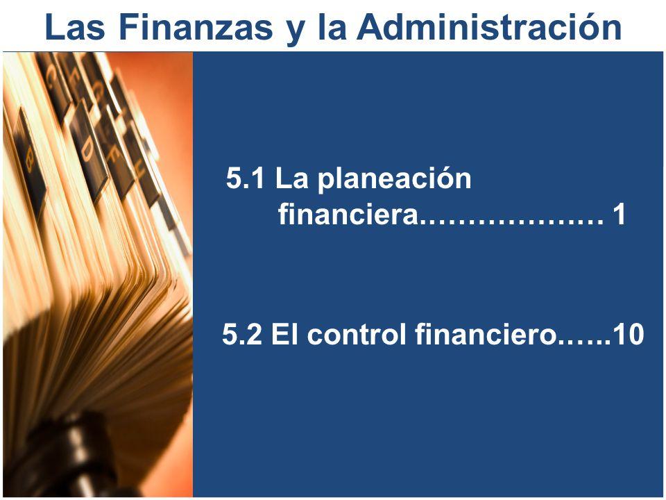 Las Finanzas y la Administración