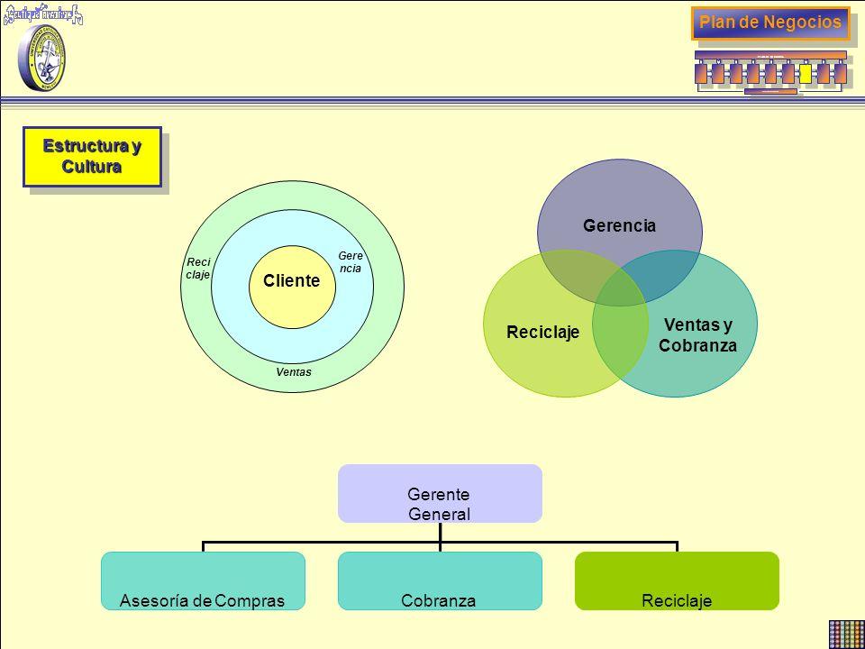Plan de Negocios Estructura y Cultura Reciclaje Ventas y Cobranza