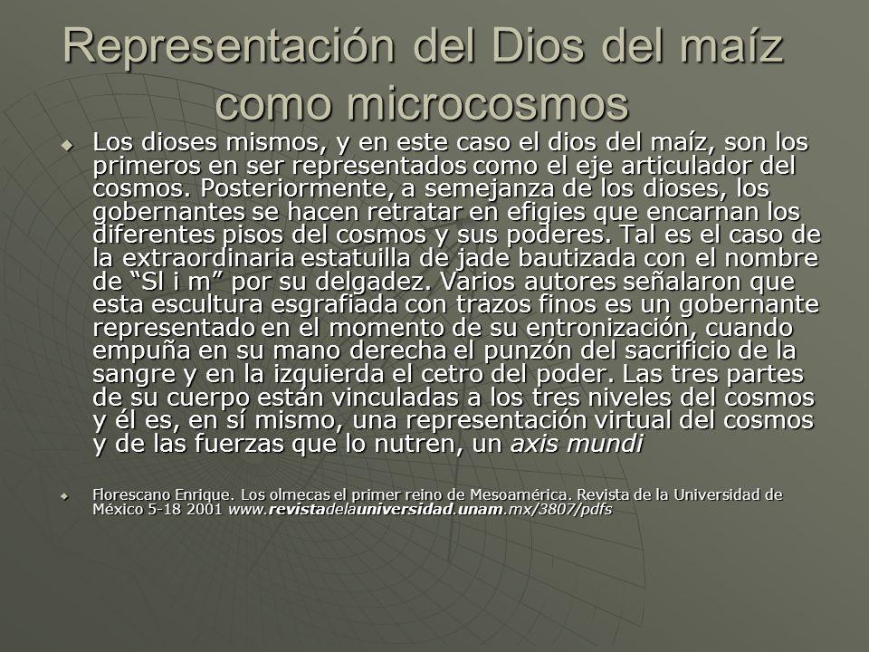 Representación del Dios del maíz como microcosmos