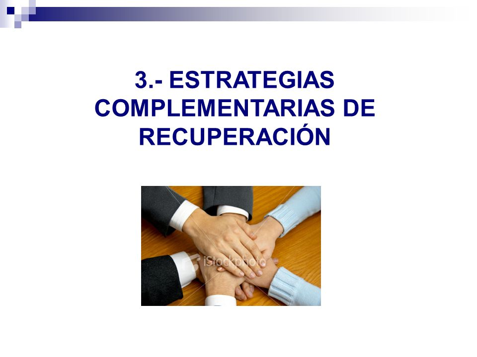 3.- ESTRATEGIAS COMPLEMENTARIAS DE