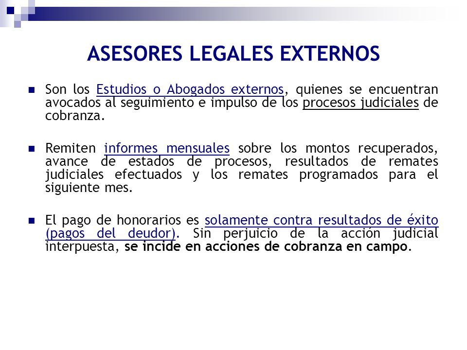 ASESORES LEGALES EXTERNOS