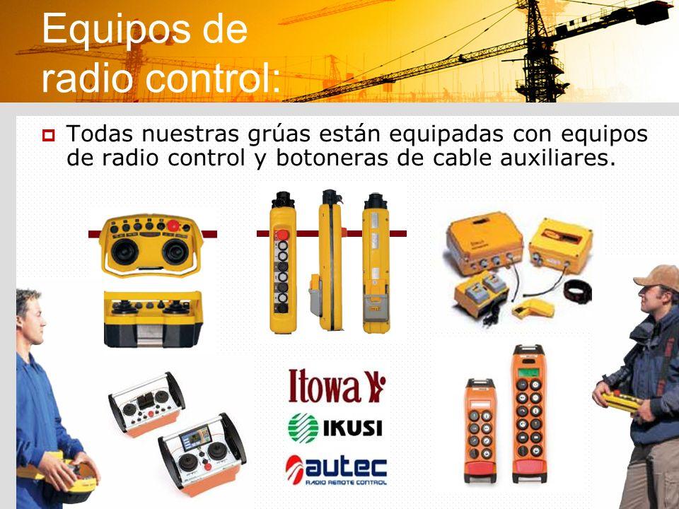 Equipos de radio control: