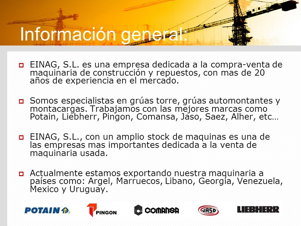 Información general: