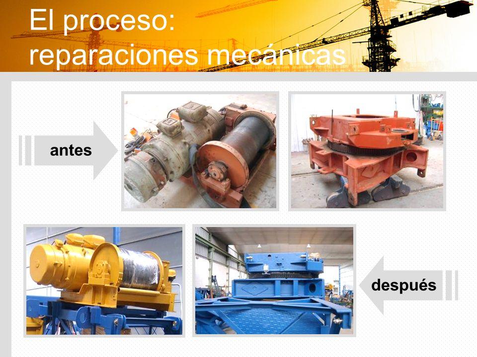 El proceso: reparaciones mecánicas