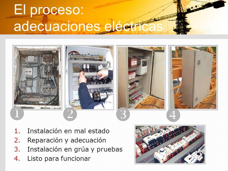 El proceso: adecuaciones eléctricas