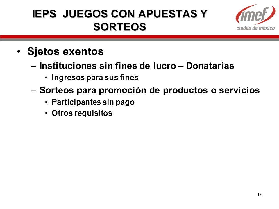 IEPS JUEGOS CON APUESTAS Y SORTEOS