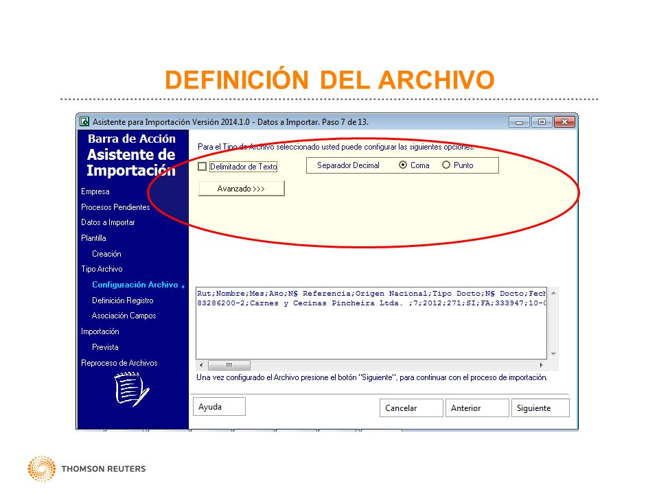 DEFINICIÓN DEL ARCHIVO