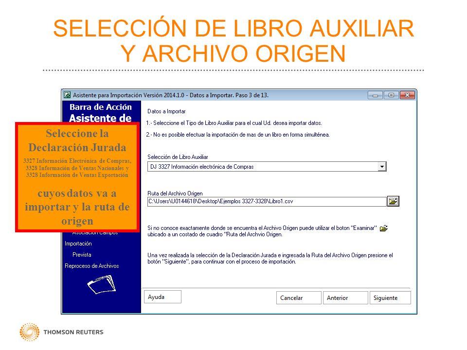 SELECCIÓN DE LIBRO AUXILIAR Y ARCHIVO ORIGEN