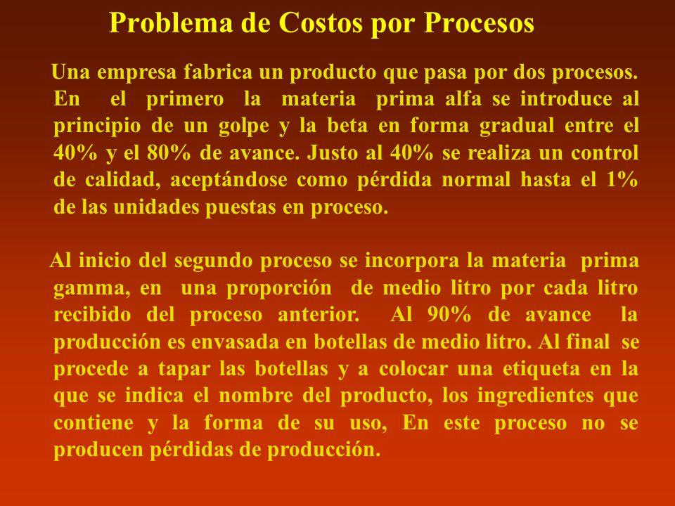 Problema de Costos por Procesos